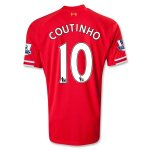 13-14 Liverpool #10 COUTINHO Home Red Soccer Shirt