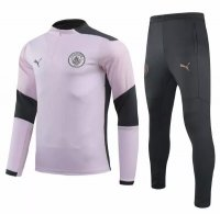 Manchester City 20/21 Tracksuit Pink Black Training Top and Pants