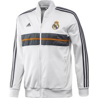 13-14 Real Madrid White Anthen Jacket