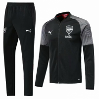 18-19 Arsenal Jacket Black with Grey Camo and Pants