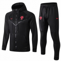 Portugal 2019 Training Hoodie Jacket Tracksuit Black and Pants