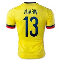 2015 Colombia GUARIN #13 Home Soccer Jersey