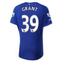 Everton 2015-16 GRANT #39 Home Soccer Jersey