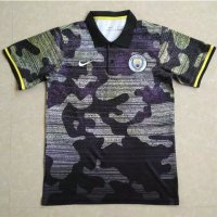 Manchester City 2017/18 Grey Camouflage Polo Shirt