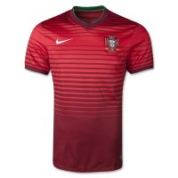 2014 FIFA World Cup Portugal Home Red Soccer Jersey Football Shirt