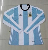 Argentina 2016 LS Home Soccer Jersey
