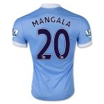 Manchester City 2015-16 MANGALA #20 Home Soccer Jersey