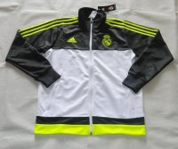 2015-16 Real Madrid Soccer Jacket White-Black