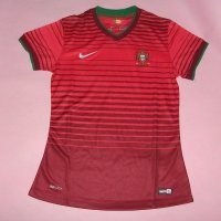 Women Portugal 2014 World Cup Home Soccer Jersey Kit