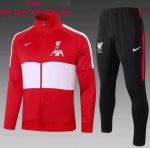 20/21 Kids Liverpool Training Jacket Tracksuit Red White and Pants