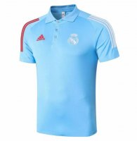 Real Madrid 20/21 Polo Jersey Shirt Blue