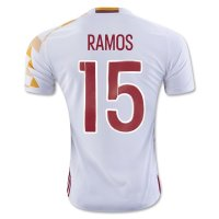 Spain 2016 RAMOS #15 Away Soccer Jersey