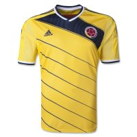 2014 World Cup Colombia Home Yellow Jersey Shirt