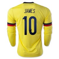 Colombia 2015 JAMES #10 LS Home Soccer Jersey