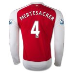 Arsenal 2015-16 MERTESACKER #4 LS Home Soccer Jersey
