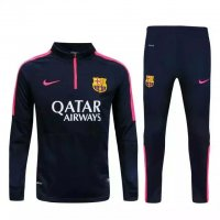 Barcelona 2015-16 Dark-Blue Sweater Suit With Pants