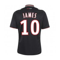 13-14 AS Monaco FC #10 James Away Black Jersey Shirt