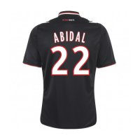 13-14 AS Monaco FC #22 Abidal Away Black Jersey Shirt