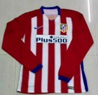 Atletico Madrid 2015-16 Home Soccer Jersey LS
