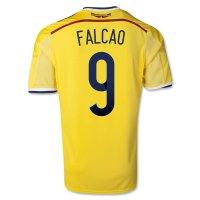 2014 Colombia #9 FALCAO Home Yellow Jersey Shirt