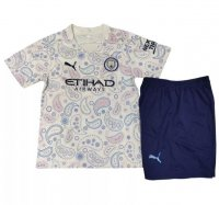 20/21 Children Manchester City 3rd Away Soccer Suits (Shirt+Shorts)
