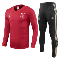 Ajax 18/19 Training Sweat Top Tracksuit Red and Pants