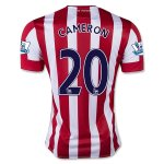 Stoke City 2015-16 CAMERON #20 Home Soccer Jersey