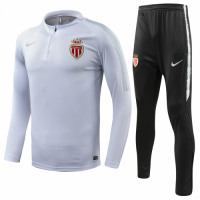 AS Monaco FC 18/19 Sweat Top Tracksuit White With Pants