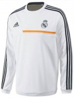 13-14 Real Madrid White Long Sleeve Crew Sweatshirt