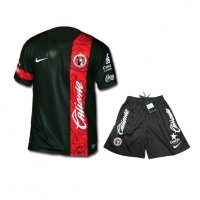 13-14 Club Tijuana Away Black Jersey Kit(Shirt+Short)