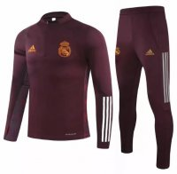 Real Madrid 20/21 Tracksuit Maroon Training Sweat Top and Pants