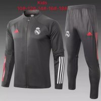 20/21 Kids Real Madrid Tracksuit Grey Training Jacket and Pants