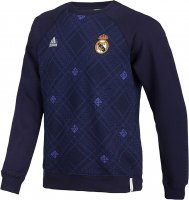 13-14 Real Madrid Navy Pattern Sweatshirt