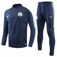 Manchester City 18/19 Sweat Shirt Tracksuits Navy With Pants
