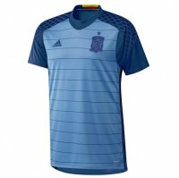 Spain 2016 Blue Goalkeeper Soccer Jersey
