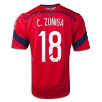 2014 FIFA World Cup Colombia Juan Camilo Zuniga #18 Away Soccer Jersey