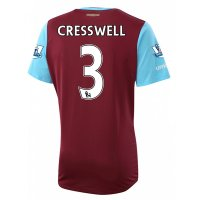 West Ham 2015-16 CRESSWELL #3 Home Soccer Jersey