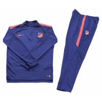 Kids Atletico Madrid 18/19 Training Sweat Top Tracksuit Blue With Pants