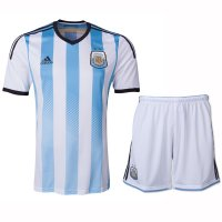 2014 Argentina Home Soccer Jersey Kit(Shirt+Shorts)