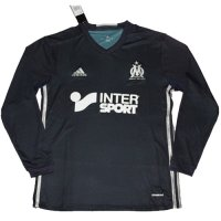 Olympique Marseille 16/17 Long Sleeve Black Away Soccer Jersey