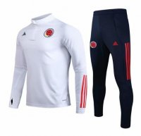 Colombia 2020 Tracksuits Training Sweat Top White and Pants