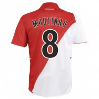 13-14 AS Monaco FC #8 Moutinho Home Soccer Jersey Shirt