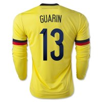 Colombia 2015 GUARIN #13 LS Home Soccer Jersey