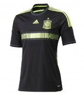 2014 Spain Away Black Jersey Shirt(Player Version)
