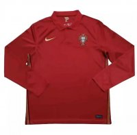 Portugal 2020 Euro Home Long Sleeve Soccer Jersey