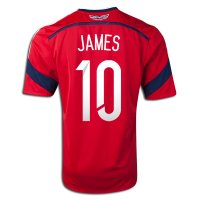 2014 FIFA World Cup Colombia James Rodriguez #10 Away Soccer Jersey
