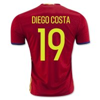 Spain 2016 DIEGO COSTA #19 Home Soccer Jersey