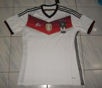 Four Stars 2014 Germany Champion Home Soccer Jersey