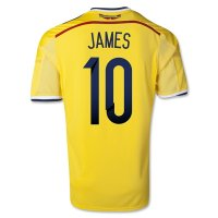 2014 Colombia #10 JAMES Home Yellow Jersey Shirt