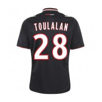 13-14 AS Monaco FC #28 Toulalan Away Black Jersey Shirt